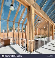 timber frame and glazing of upper floor nave milan expo 2015