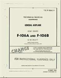 convair f 106 a b aircraft maintenance manual general airplane