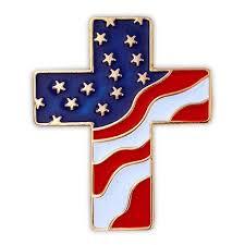 flag cross pin pinmart