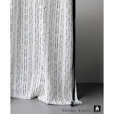 Black Linen Curtains Pearls Black Black Patterned Linen Fabric