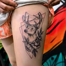 top 10 black deer tattoo design pictures