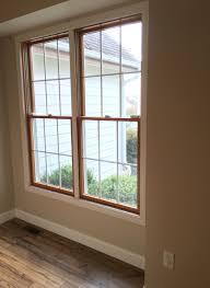 wood windows white trim shaw laminate floor in lumberjack