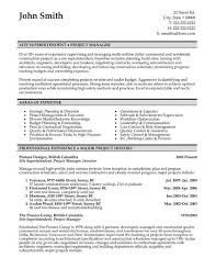 Resume Example Templates Construction Superintendent Resume Templates Construction