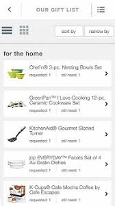 wedding registry app jcpenney s new mobile app makes creating your wedding registry a