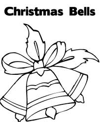 christmas bell coloring pages bell and santa coloring page kids