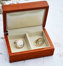 wedding gift husband custom sterling silver and brass cufflinks groomsmen gift best