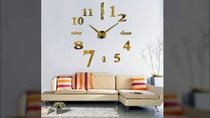 3d wall clock acrylic mirror diy clocks bedroom wall clock grote
