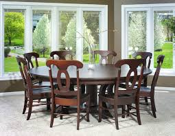Round Dining Room Sets Pueblosinfronterasus - Large round kitchen tables