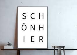 Dekobuchstaben Wohnzimmer Digitaldruck Typo Poster Schön Hier S W Ein Designerstück