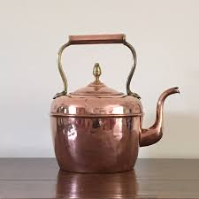 antique french copper kettle french farmhouse kettle collectible