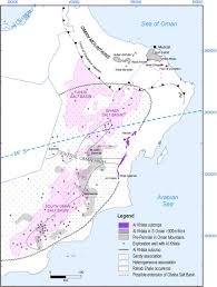 Map Of Al Al Khlata Glacial Deposits In The Oman Mountains And Their