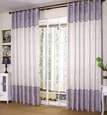 lilac fancy thermal polyester and cotton floral printed curtains
