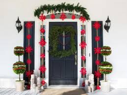 Decorate Outside Entryway Christmas by Porch Design Decorating U0026 Ideas Hgtv