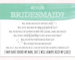 asking bridesmaids poems bridesmaid poem wedding ideas