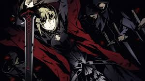 halloween wallpaper 1366x768 blonde sword anger shock people inspired anime halloween