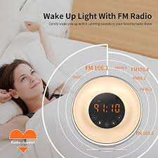 alarm clock that wakes you up during light sleep aipker wake up light sunrise alarm clock with fm radio snooze