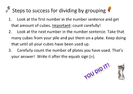 division by grouping by blue267 teaching resources tes
