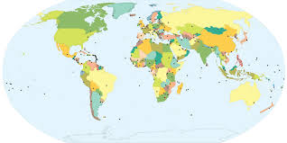 world map of capital cities capitals of every country