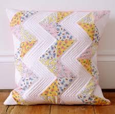 Bedroom Ingenious White Chevron Pillow Design With Colorful