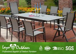 wooden extendable dining table set outside garden furniture powder