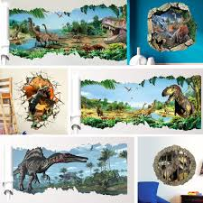 dinosaur wall stickers picture more detailed picture about 3d 3d dinosaurs wall stickers home decoration cartoon living room animals wall decals mural art poster peel