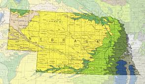 Nebraska State Map by Nebraska Geology