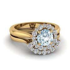aquamarine engagement rings engagement rings yellow gold aquamarine engagement rings amazing