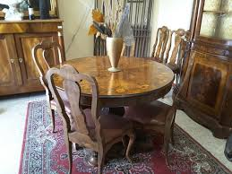 sedie chippendale tavolo con sedie antico m00260 il bello dell usato