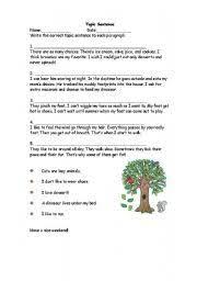 worksheet paragraph main idea
