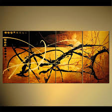 abstract painting gold rush abstract contemporary painting 4512