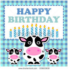 Cow Birthday Card Birthday Cow Stock Images Royalty Free Images Vectors