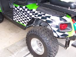 Flag Graphics Golf Cart Full Color Large Racing Checkered Flag