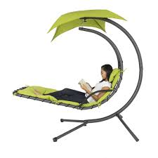 hanging chaise lounger chair arc stand air porch swing hammock