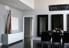 dark hardwood floors dining room contemporary with none