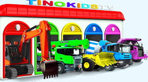 trucks for kids compilation 3 learn colors with heavy vehicles