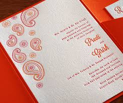 contemporary indian wedding invitations modern indian letterpress wedding invitation gallery preeti