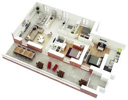Small House Design 3 Bedroom In 3d Huge Three Including