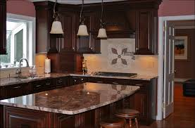 kitchen cherry cabinets with granite countertops color schemes