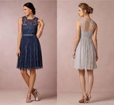 celia silver grey lace bridesmaid dresses jewel neckline