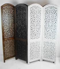 carved wood room divider 4 panel hand carved indian screen wooden screen divider kashmeri
