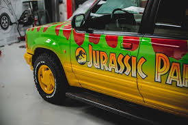 jurassic park tour car kustom kolors jurassic park promo vehicle custom paint and