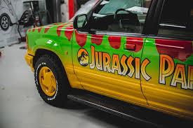 jurassic park tour car kustom kolors jurassic park promo vehicle custom paint and