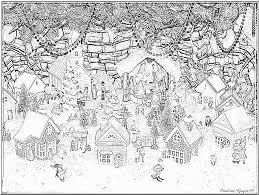 Coloriage Village De Noel  Hoegulismijngemeente
