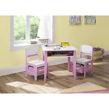 Play Table With Storage by Little Girls Activity Table And Storage Set Pink White Play Table