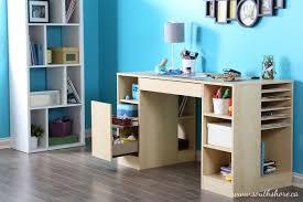 Craft Desk With Storage South Shore Crea Collection Craft Table Walmart Canada