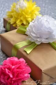tissue paper gift wrap gift wrapping with tissue paper flowers