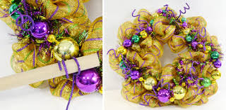 mardi gras mesh party ideas by mardi gras outlet a mardi gras wreath with