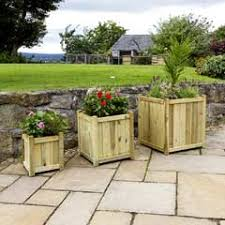 wooden garden arch with planters in stock now greenfingers com