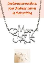 double name necklace images Double name necklace two children name necklace silver fine jpg