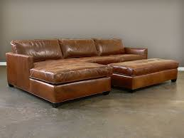 Brown Leather Sofa With Chaise Baxton Studio Susanna Brown Leather Sectional Sofa W Chaise Within
